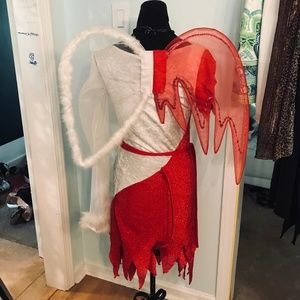 Red White Little Devil Angel Halloween Costume